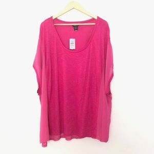 Torrid Dolman Sleeve Sheer Knit Top Sz 4